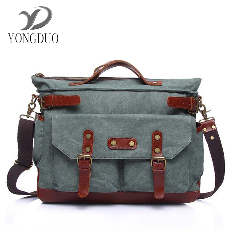 YONGDUO New 2017 Vintage Men's Messenger Bags Canvas Shoulder Bag Fashion Men Business Crossbody Bag Printing Travel Handbag