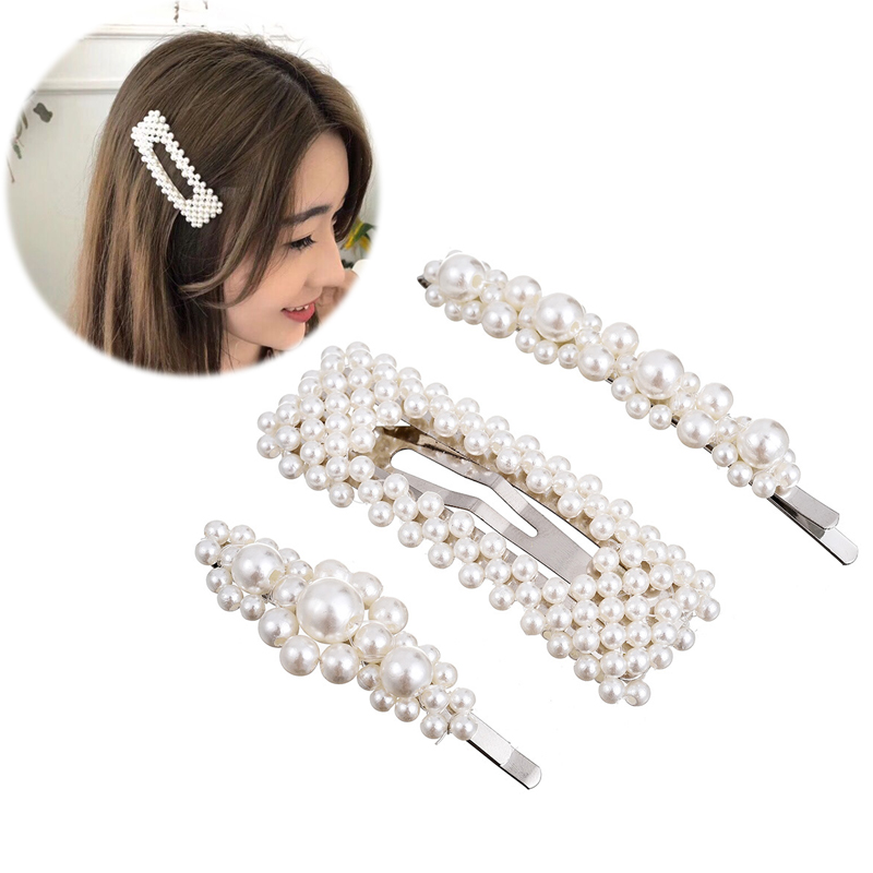 M MISM Hot Sale Girls Imitation Pearl Beads BB Hair Clips Pins Simple Fashion Hairpins Women Luxury Sweet Hairgrips Accessories headpiece