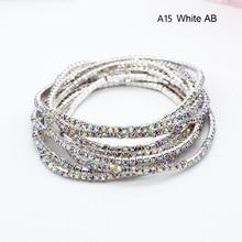 ¡Novedad de 2018! pulsera de moda con diamantes de imitación, joyería de boda, Simple encanto, gafas Vintage, brazalete de cristal pulseras para niña y mujer