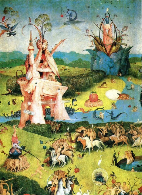Hot Art Silk Poster The Garden Of Earthly Delights Hieronymus Bosch Art Poster Family Silk 24x36