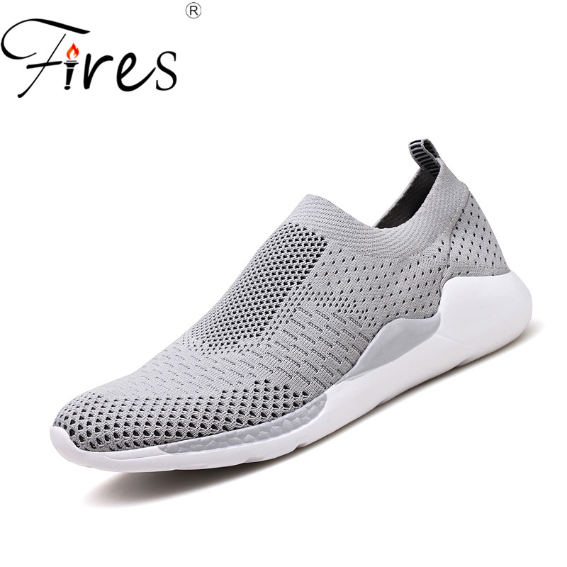 Fires Men Mesh Loafers Fashion Summer Casual Shoes Outdoor Shock Soft Soles Loafer Shoes Male Comfortable Vulcanized Shoes