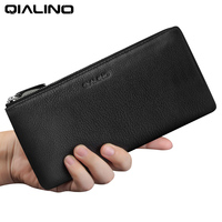 QIALINO luxury Wallet Case for iphone 7 iPhone 7 plus Handmade Genuine Leather Cover for iPhone 6s slots for cards 4.7/5.5 inch