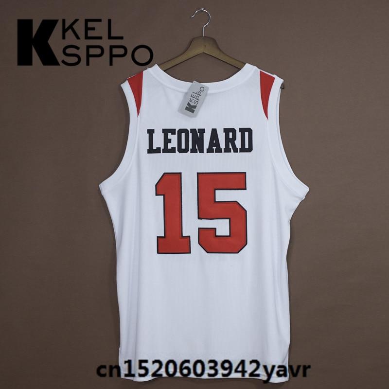 ebb677f14d0 ... real custom adult throwback basketball jerseys 15 kawhi leonard san  diego state embroidered basketball jersey size