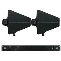 Профессиональные антенны микрофонный сплиттер коллектор направленная антенна усилитель распределитель для 4 компл. Беспроводной микрофон