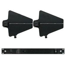 Профессиональные антенны микрофонный сплиттер коллектор направленная антенна усилитель-распределитель для 4 компл. Беспроводной микрофон Системы