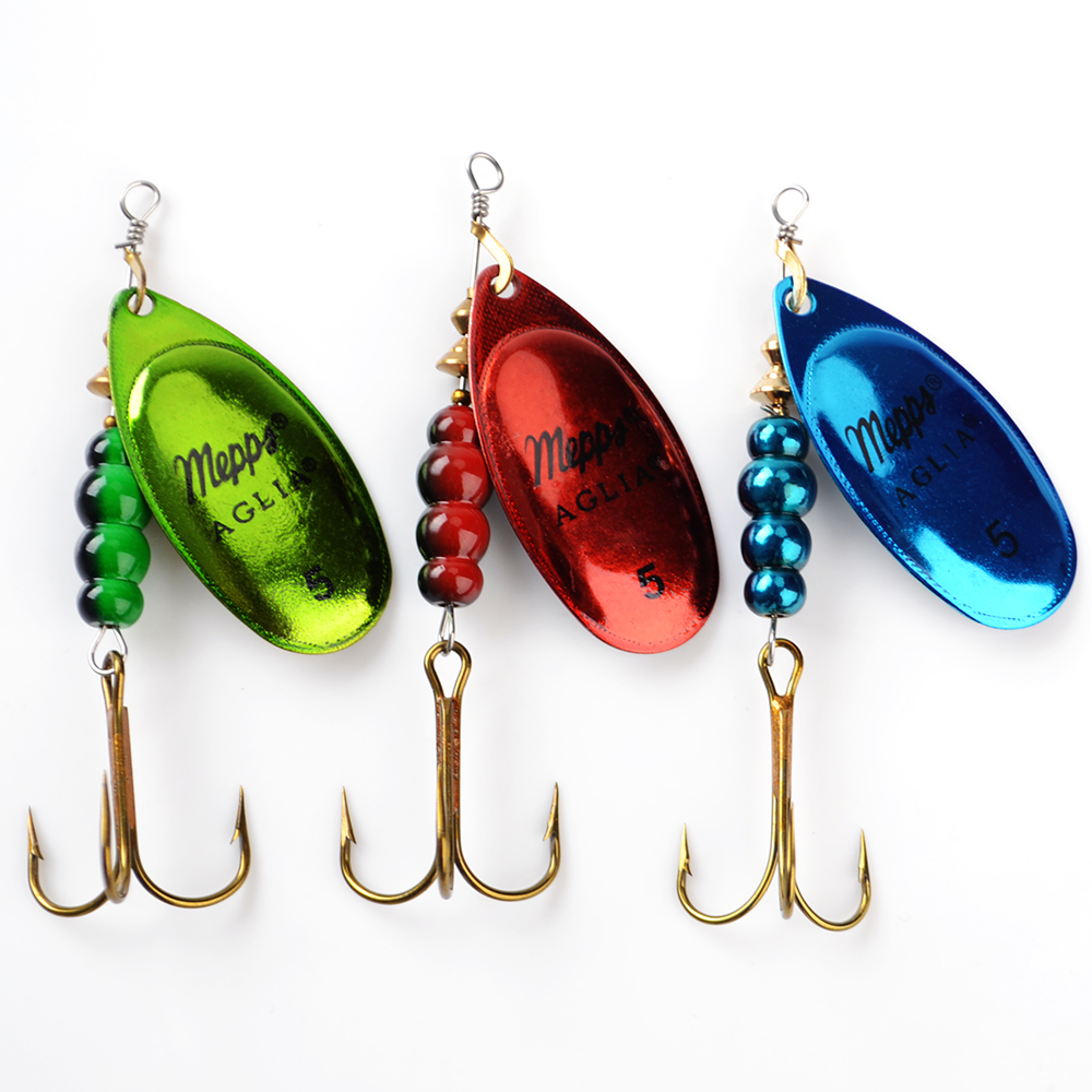 1PC 3 Color Size0-Size5 Fishing Hard Lure Bait Leurre Peche Mepps Spoon Fishing Tackle Vissen Pesca Acesorios