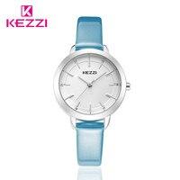 Watch Women Leather Quartz Watches Kezzi Brand Luxury Popular Watch Women Casual Fashion Wristwatches K 1385