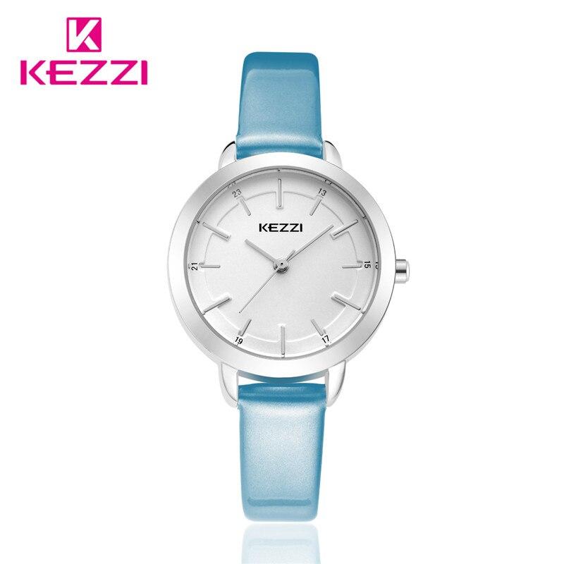 2016 kezzi Top Brand Watch Women Leather Quartz Watches Luxury Popular Watch Women Casual Fashion Wristwatches Clock k-1385