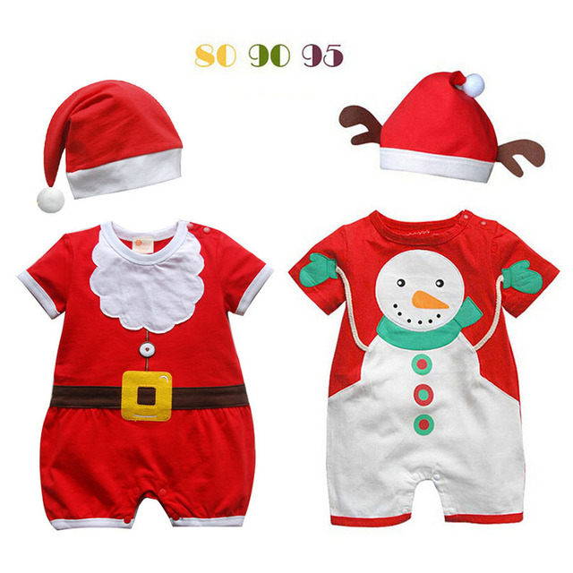 2fb3918dc Baby Style 100% Cotton Short Sleeve Rompers Classic Christmas ...