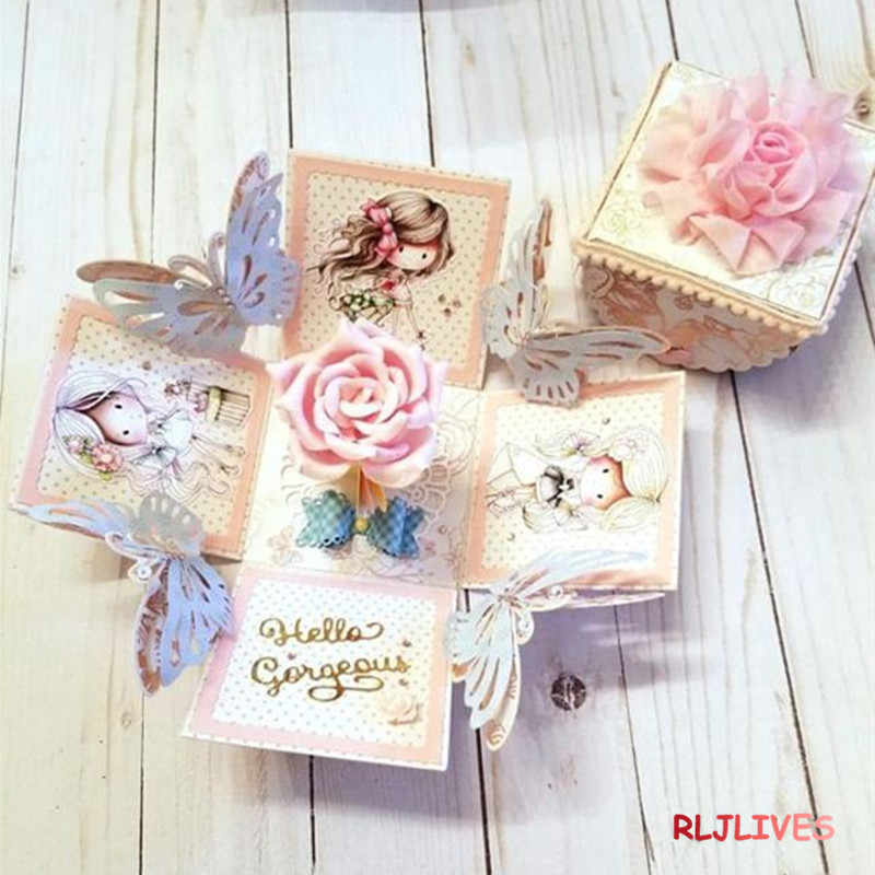 RLJLIVES Explosion Box Metal Cutting Dies Stencils for DIY Scrapbooking Stamp/photo album Decorative Embossing DIY Paper Cards