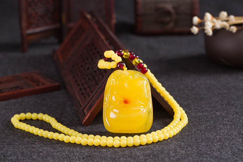 High Amber Floation Brine Beeswax Beads Necklace Fashion Beeswax Necklace Pendant Bijoux Wrisband For Woman Gifts Drop Shipping