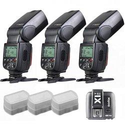 3 x Godox TT600 build-in 2.4G Receiver GN60 HSS Flash + X1T Transmitter for Nikon