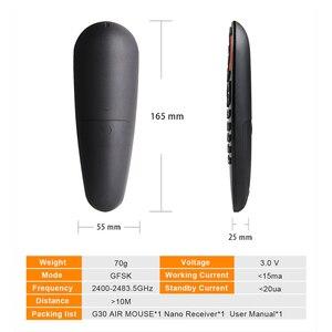 Image 4 - G30S Voice Control 2.4G Wireless Air Mouseคีย์บอร์ดสำหรับGyroscope Motion SensingรีโมทคอนโทรลMINIสำหรับAndroid TVกล่องH96