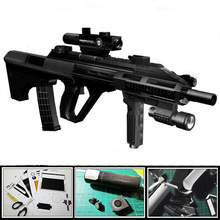 3D Paper Model Gun Magazine Steyr Aug Assault Rifle 1:1 Firearms Waterproof Colored Handmade Puzzle Toy