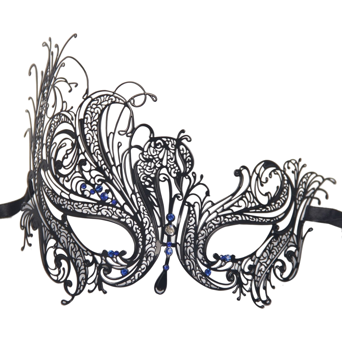 Metal Laser Cut Hollow Mask Black ...