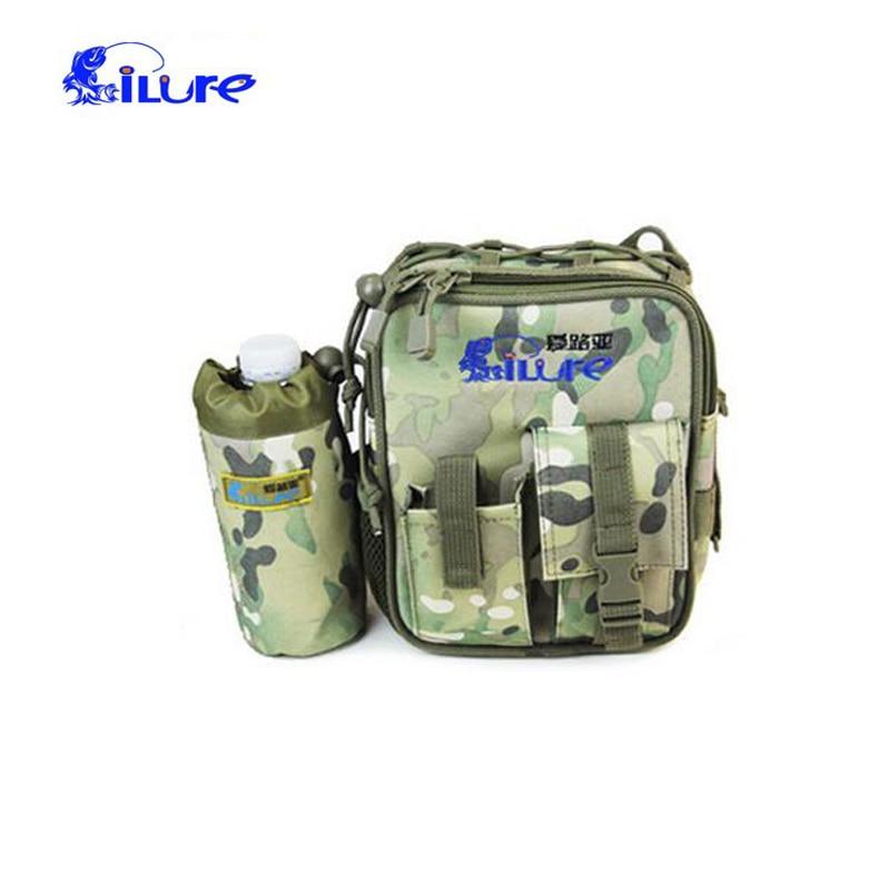 17*7*21cm Ilure Fishing Rod Bags Multi-function Fishing Tackle Bag Waterproof Waist Fishing Lure Bag Shoulder Bag Bolsa de pesca