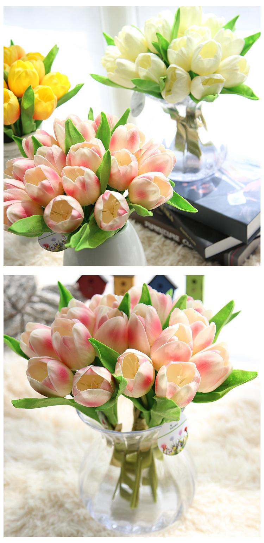 Hoa Tulip giả M-173 với 3 màu sắc nổi bật