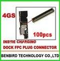 100 pcs/lot ремонт часть внутри зарядка для гибкая печатная плата вилка коннектор для IPHONE 4S логической плате YL1211-23