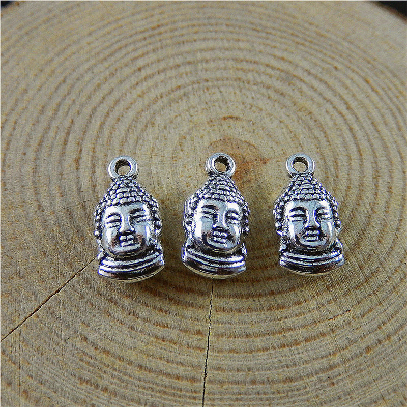 20pcs Imitation Antique Silver Double-sided Beadle Style Jewelry Pendants Charms Finding Jewelry Making Key Chain Accessary