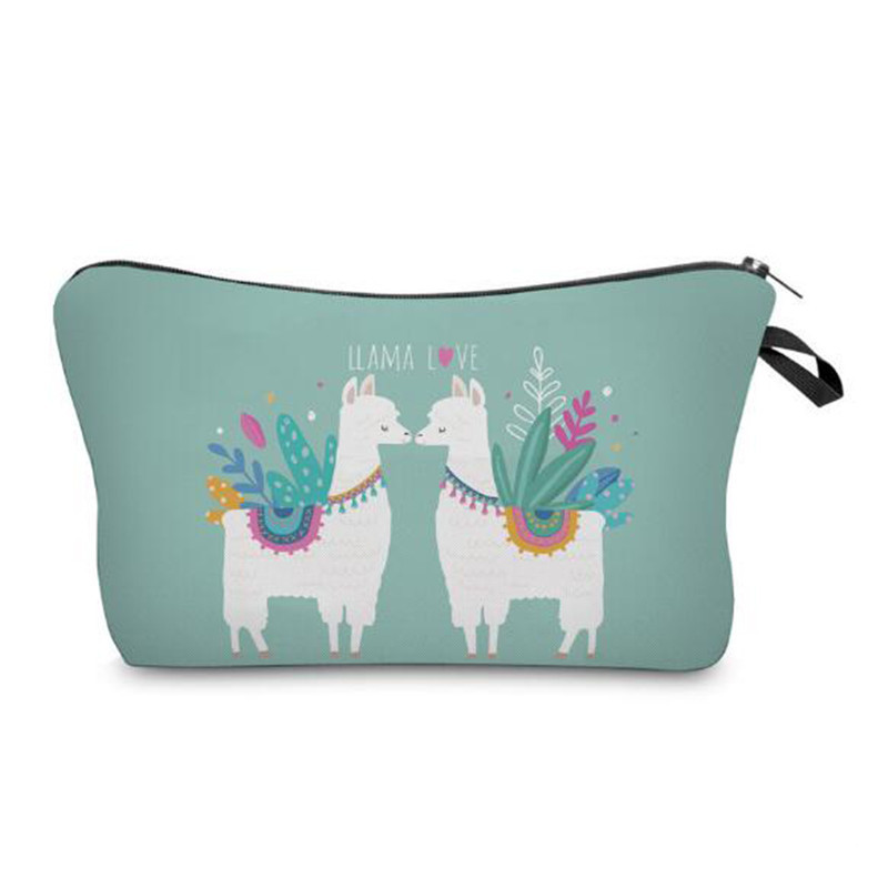 f5dc8f41b206 2019 Printing Alpaca Cosmetic Bag Cute Pouchs For Travel Make Up Bag Ladies  Pouch Multi Functional Portable Cosmetic From Snappya, &Price;   ...