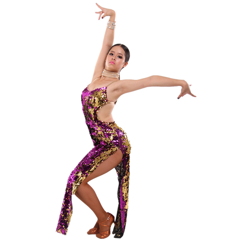 6d1a75e3b8c9 Womens Latin Dance Dress Competition Halteres Salsa/Ballroom/Tango  Performance Vestidos Sexy Club Dresses