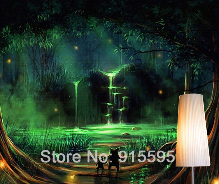 HTB1SWuaQXXXXXaNXpXXq6xXFXXXf - Wall Home Decor Custom Photo Wallpaper 3D Abstract Forest Waterfall Animal Children Room Bedroom Non-woven Wallpaper Murals 3D