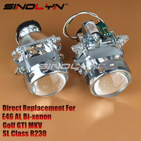 AL Headlight Bi Xenon Projector Lens D2S Replacement For 3 Serie BMW E46 Compact Pre Facelift