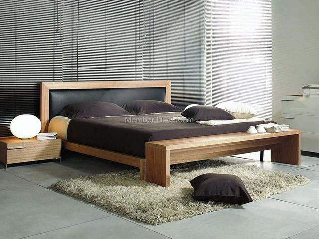 2014 DIVANY Modern Furniture Latest Wooden Bed Designs