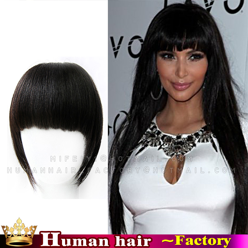 Look Sexy Hairstyles Brazilian Virgin Human Real Hair Clip In Bangs