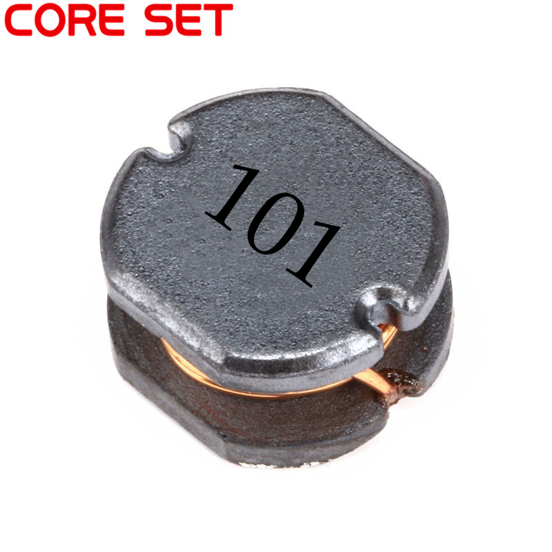 10pcs/lot SMD Power Inductor CD75 100UH 101 0.8A~1A Wire Wound Chip Inductor 500pcs 1608 0603 2 7uh chip smd multilayer inductor