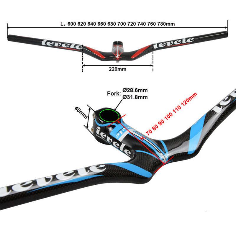 T700 manillar de fibra de carbono completo bicicleta de carretera 3K manillar de bicicleta brillante MTB 28,6 MM/31,8 MM barra elevadora de bicicleta piezas de repuesto para bicicletas