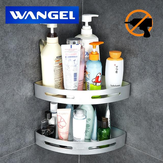 El Wall Hanger Bathroom Storage Shelf Toilet Ful Suction Nail Free E Aluminum Washroom H401