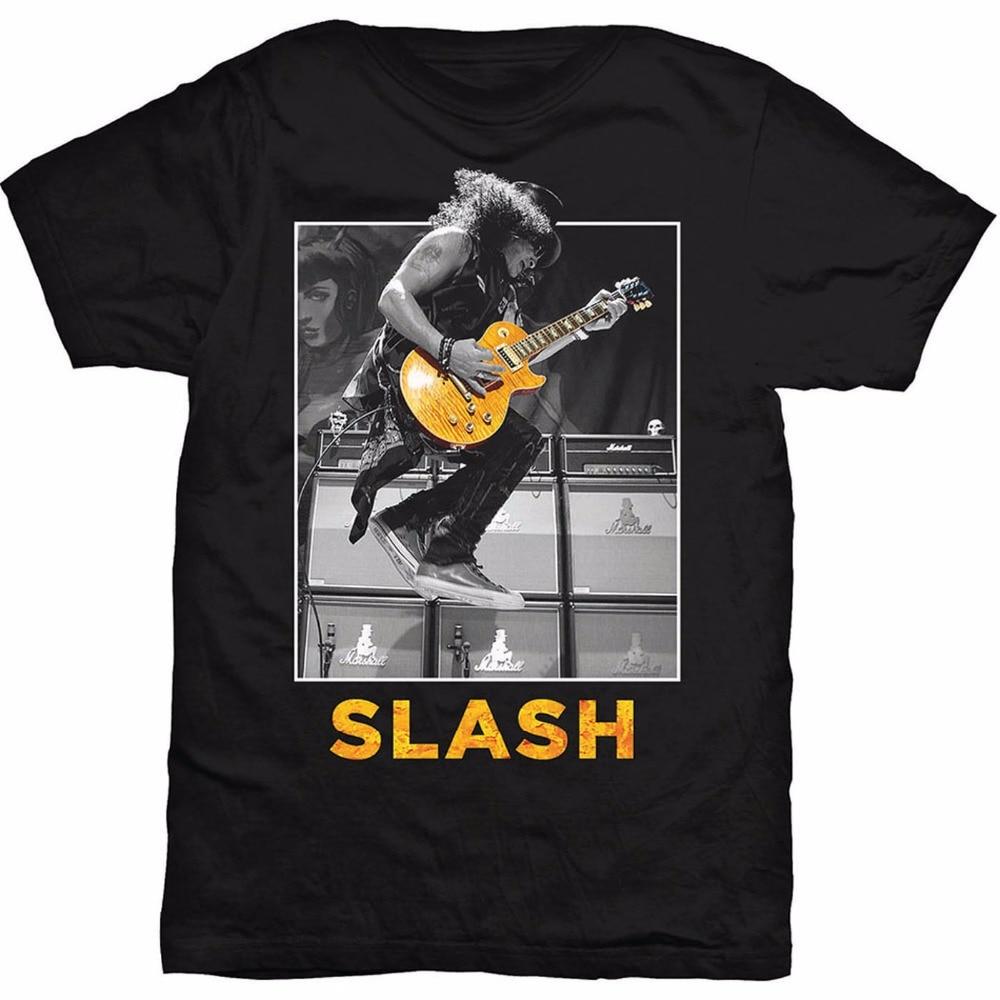 Gildan 2017 Fashion Gildan Graphic Men Crew Neck Slash Jump Guns N Roses Rock Heavy Metal Short-Sleeve T Shirts ...