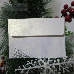 Branco Floral Em Relevo Convite Envelope Envelopes de Presente