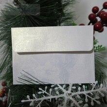 Witte Bloemen Reliëf Envelop Uitnodiging Gift Enveloppen