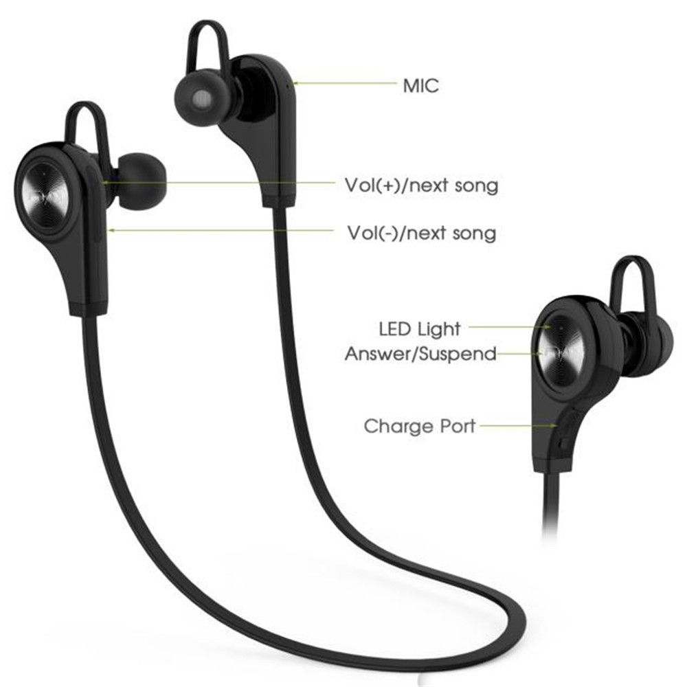 Bluetooth Wireless Headset Stereo Hand In-Ear Stereo Sports Earphones phone air pods Sport headphone in ear Headphones with mic