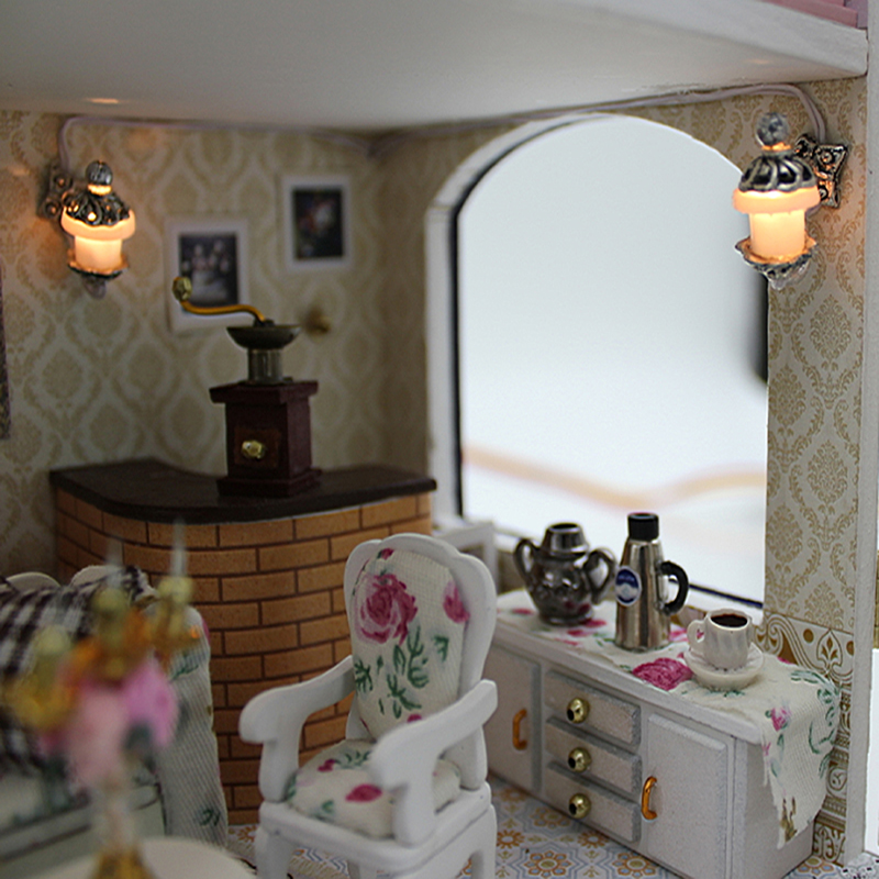 Gifts New Brand DIY Doll Houses Wooden Doll House Unisex Dollhouse Kids Toy  Furniture Miniature Crafts Little Prince 13837 In Doll Houses From Toys ...