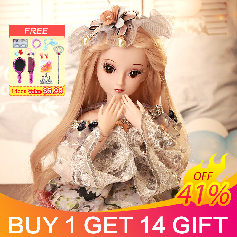 UCanaan 23 6 BJD Dolls with 19 Ball Joints SD Dolls Clothes Outfit Shoes Wig Hair