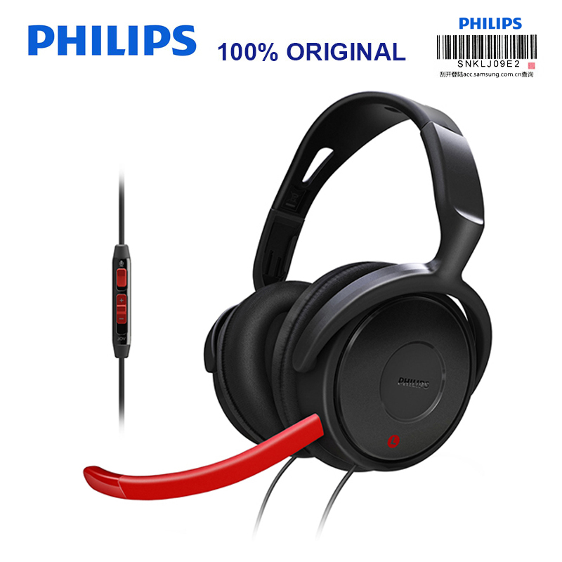 Philips SHG7980 Wired Earphone wiht Noise Reduction 3.5mm Plug Microphone Wire Control for Video Chat Official Verification стоимость