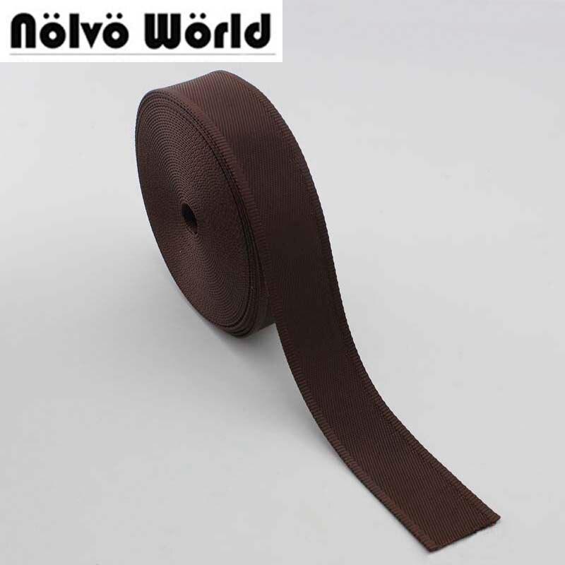 10yards 32mm 38mm wide black brown color nylon ribbon for camera belts strap,sewing men shoulder bags strap,car safety belt