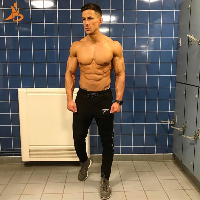YD New Logo Custom Quick Dry Running Pant Compression Training Fitness Tights Polyester Yoga Pantalones Gym Sports Leggings Men