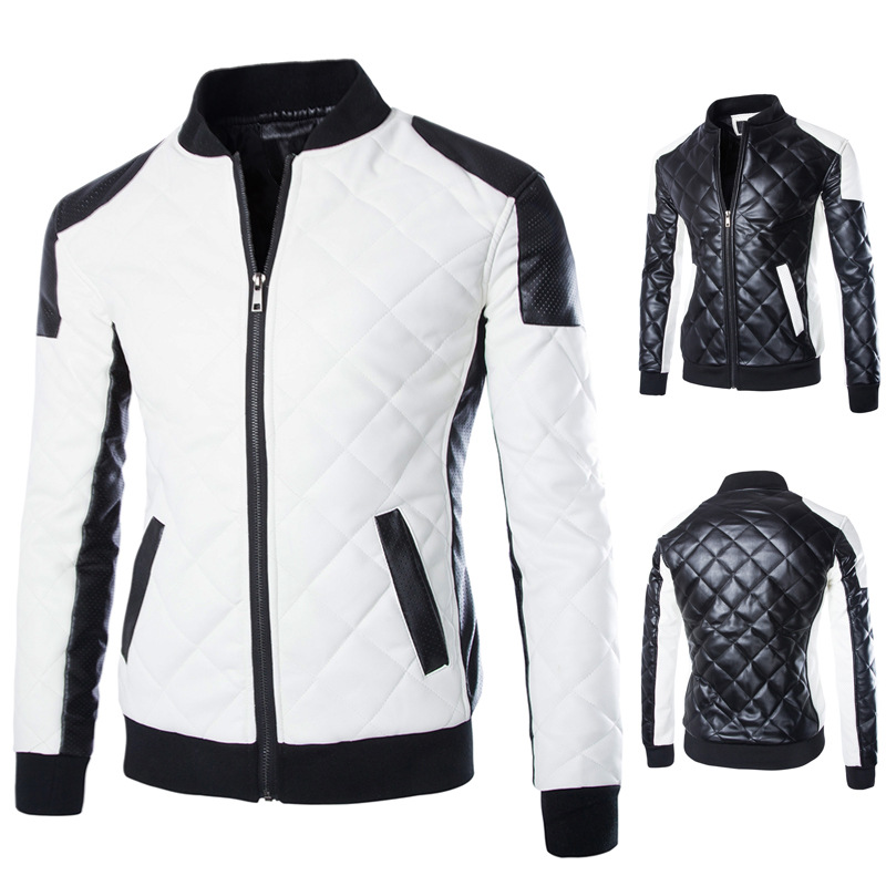 Chaqueta Punk Hombre High Quality Zipper Stand Collar Casual Men s Jacket Stitching Large Size Mens