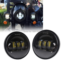 """4.5 """"4 1/2"""" 30 W LED Projector Fog Passerende Licht voor Harley Road King Street Glide Erfgoed softail Electra Glide Touring"""