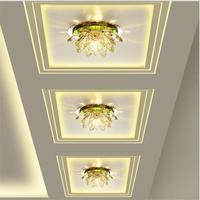 Lotus Modern LED Crystal Ceiling Light Surface Mounted Led Ceiling Lamp Lighting Fixture For Living Room