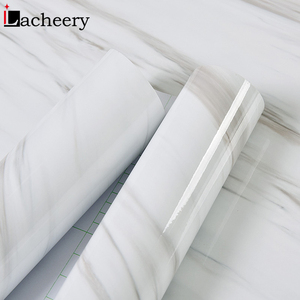 Image 4 - Modern Simple Marble Wallpaper PVC Waterproof Bathroom Wall Decor Kitchen Countertop Stickers Vinyl Self Adhesive Contact Paper