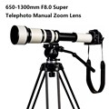 Lightdow 650-1300 F8.0-F16 Super Telephoto Manual Zoom Lens+T2-Canon Adapter Ring for Canon 1100D 700D 650D 550D 500D 70D 60D 7D