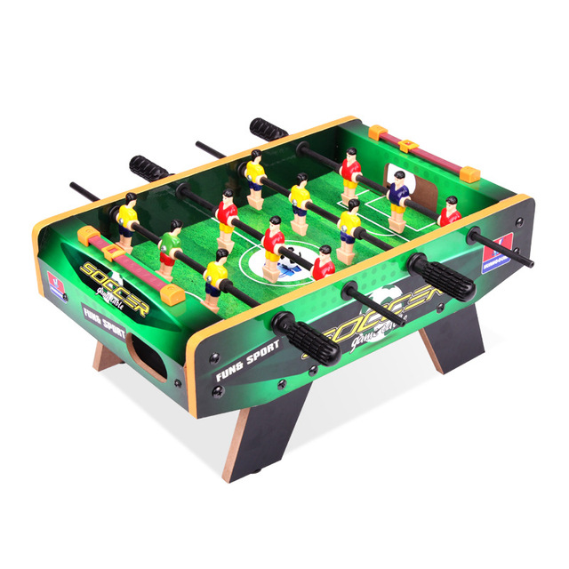 ALHGWJ09 Wooden Table Football Bar Game Table Soccer Game Children Fun  Sports Home Parent Child