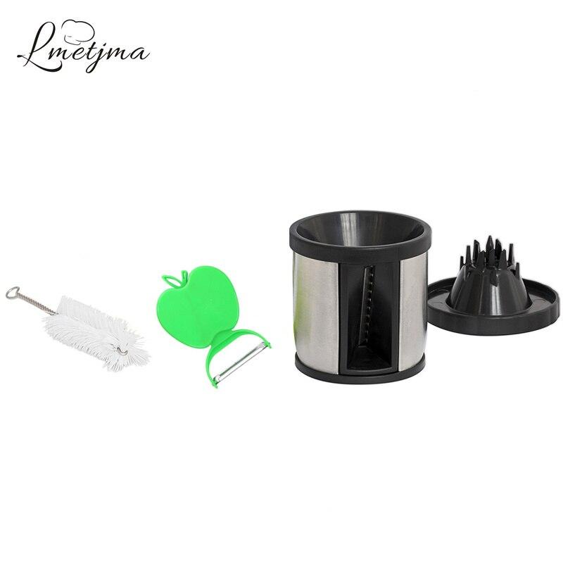 Manual Spiralizer Vegetable Slicer Stainless Steel Spiral Cutter Kitchen Gadgets