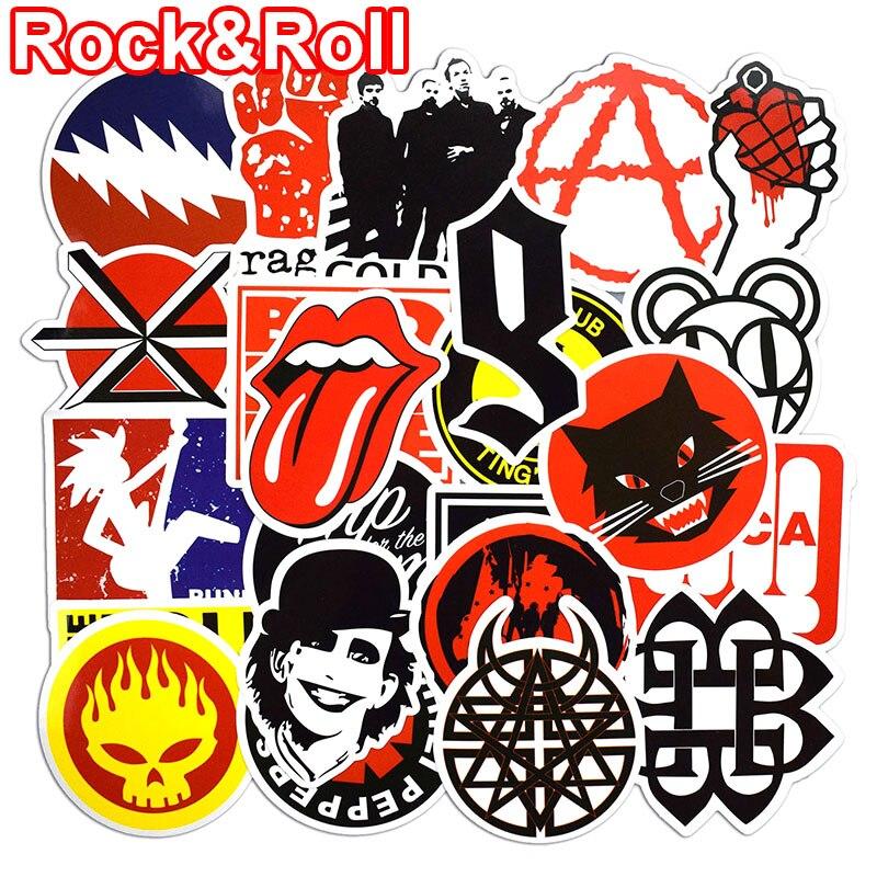 50 komada Naljepnice za Rock & Roll za prijenosna računala za - Klasične igračke