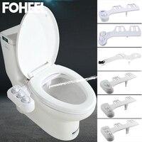 Non-Electric Toilet Seat Bidet Hot Cold Water Bathroom Muslim Shattaf Washing Bidet Sprayer Self-Cleaning Nozzle